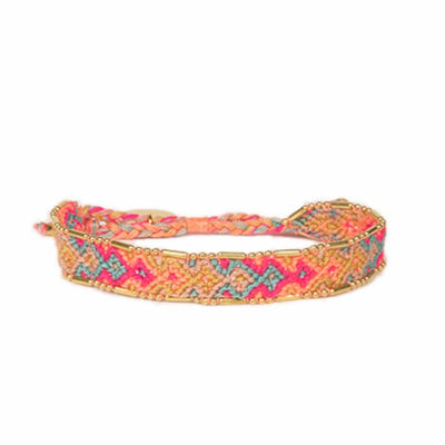 Bali Friendship Bracelet - Fire Stream Love Is Project woven bracelets by artisans in Indonesia. Beaded bracelets creates jobs.