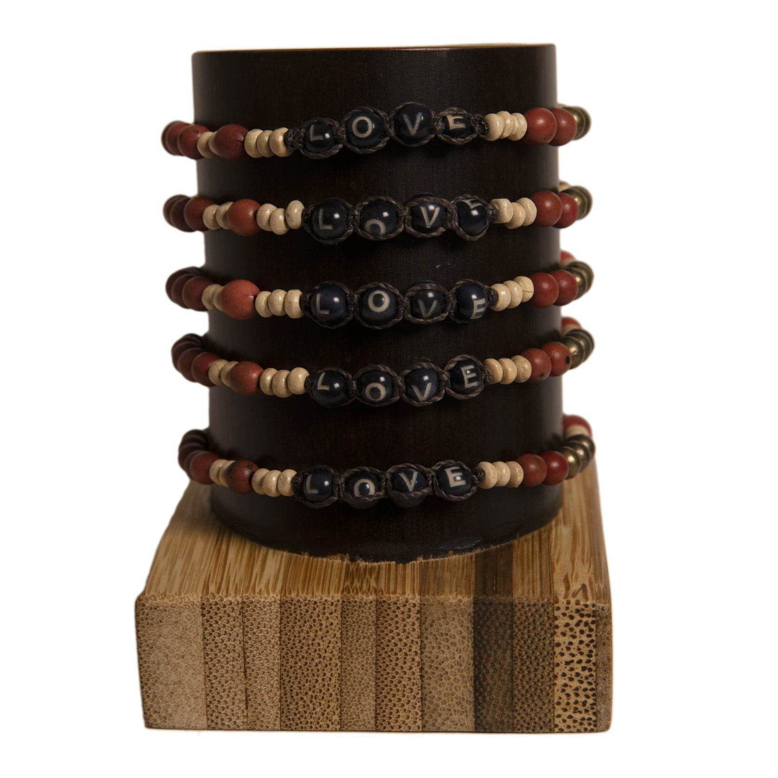 Bundle - Achira Harmony LOVE Bracelets friendship bracelets gifts that give back creates jobs for artisans in Ecuador