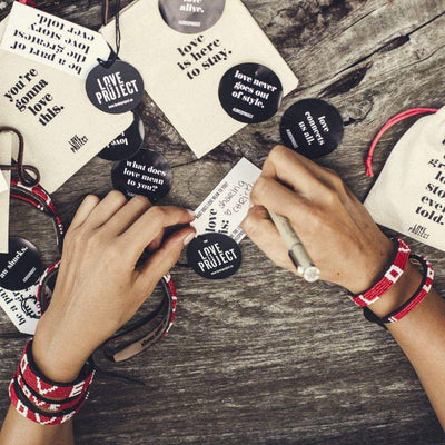 Bundle - Big Skinny Bracelets gifts that give back Love Is Project Love Bracelets creates jobs for female artisans in Kenya and Indonesia. Glass beaded leather bracelet