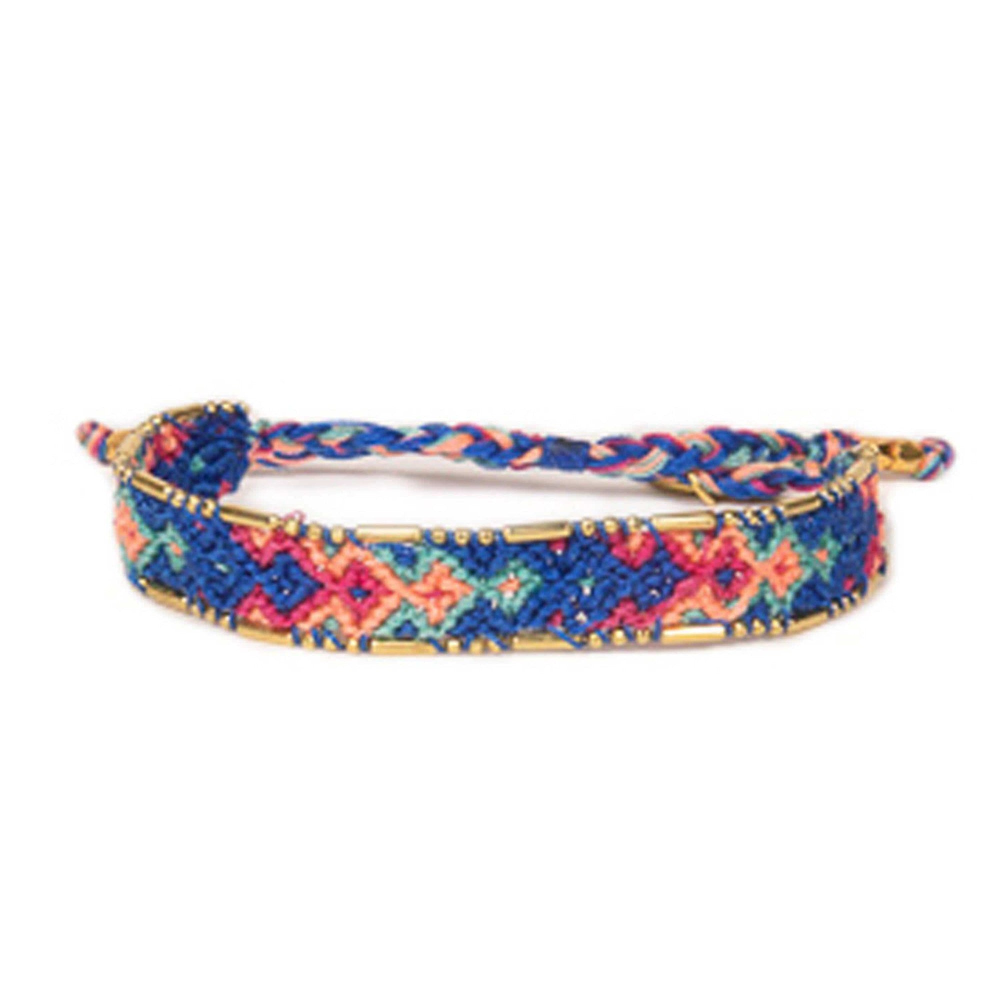 Bali Friendship Bracelet - Sunset Canggu Love Is Project woven bracelets by artisans in Indonesia. Beaded bracelets creates jobs.