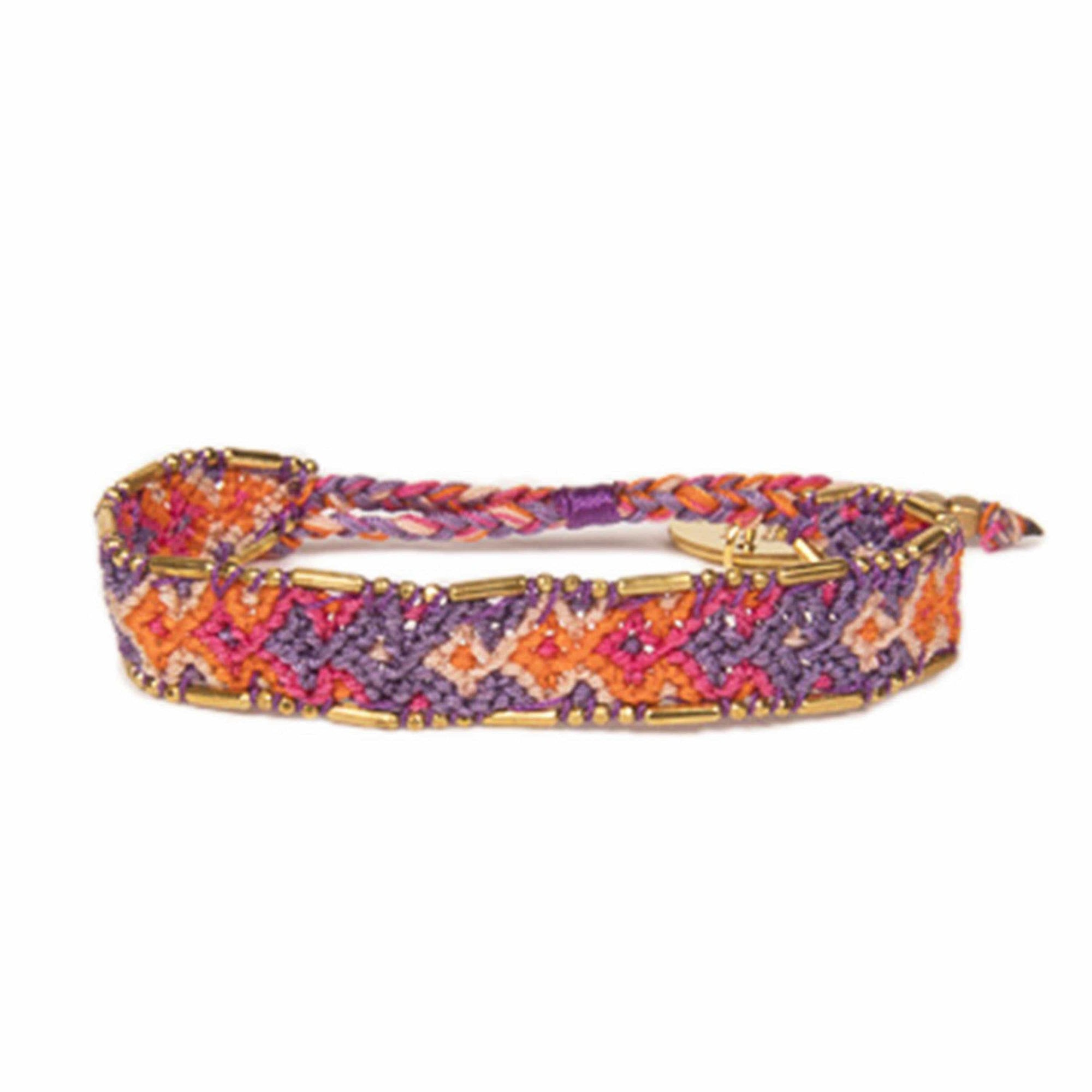 Bali Friendship Bracelet - Sunset Ubud Love Is Project woven bracelets by artisans in Indonesia. Beaded bracelets creates jobs.