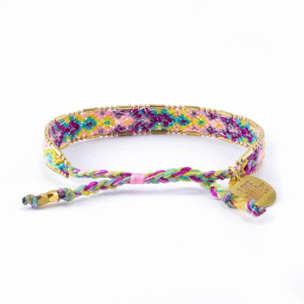 Bali Friendship Bracelet - Bloom Violet - Love Is Project