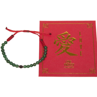 Love Is Project Jade Chinese New Year Bracelet with red packet envelope packaging