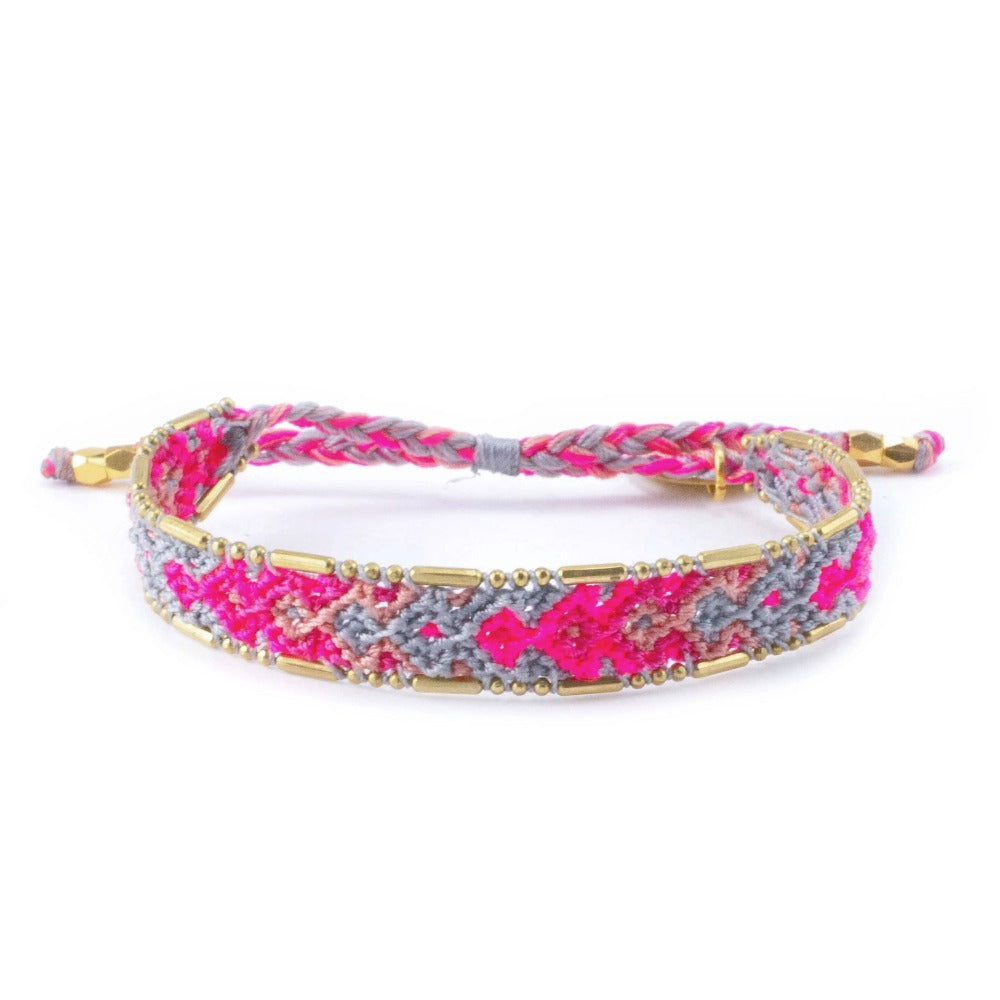 Bali Friendship Bracelet - Canyon Spring Love Is Project woven bracelets by artisans in Indonesia. Beaded bracelets creates jobs.