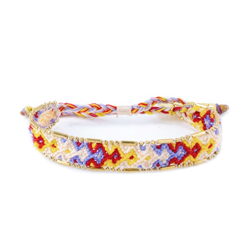 Bali Friendship Bracelet - Desert Gypsum Love Is Project woven bracelets by artisans in Indonesia. Beaded bracelets creates jobs.