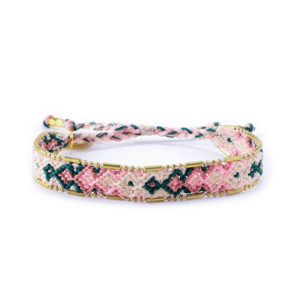 Bali Friendship Bracelet - Desert Opal Love Is Project woven bracelets by artisans in Indonesia. Beaded bracelets creates jobs.