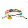 Bali Friendship Bracelet - Desert Quartz back view Love Is Project woven bracelets by artisans in Indonesia. Beaded bracelets creates jobs.