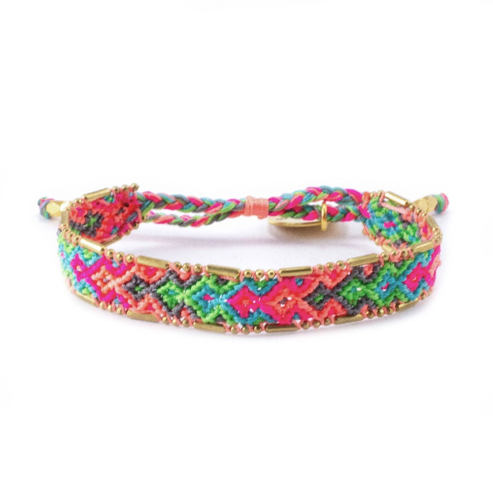 Bali Friendship Bracelet - Electric lady Love Is Project woven bracelets by artisans in Indonesia. Beaded bracelets creates jobs.