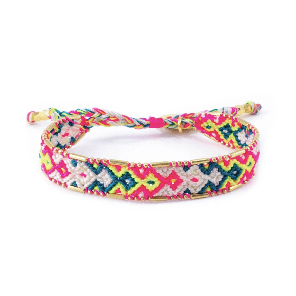 Bali Friendship Bracelet - Electric Feel - Love Is Project