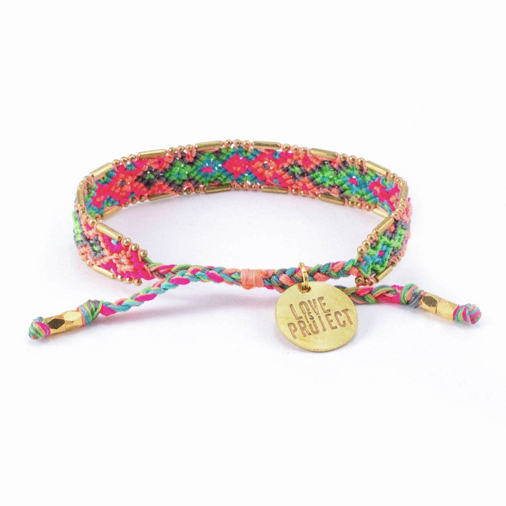 Bali Friendship Bracelet - Electric Lady - Love Is Project