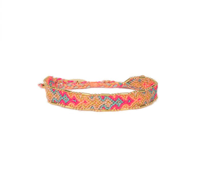 Love Is Project Bali Friendship Bracelet - Aloe Green and Dusty Rose