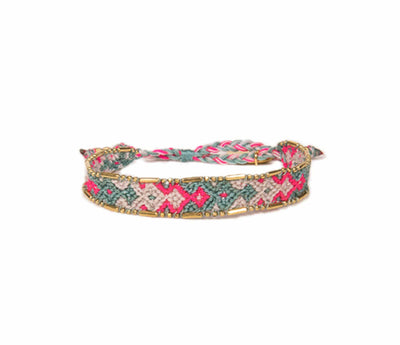 Love Is Project Bali Friendship Bracelet - Mint and Pink