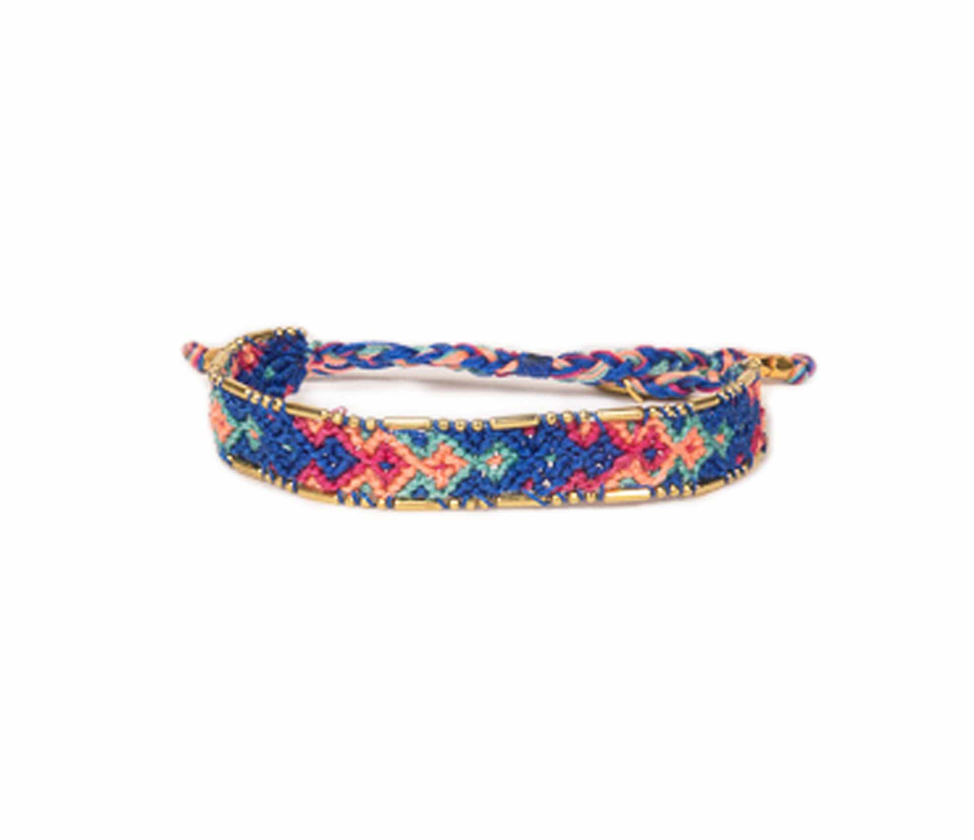 Love Is Project Bali Friendship Bracelet - Royal Blue and Pink