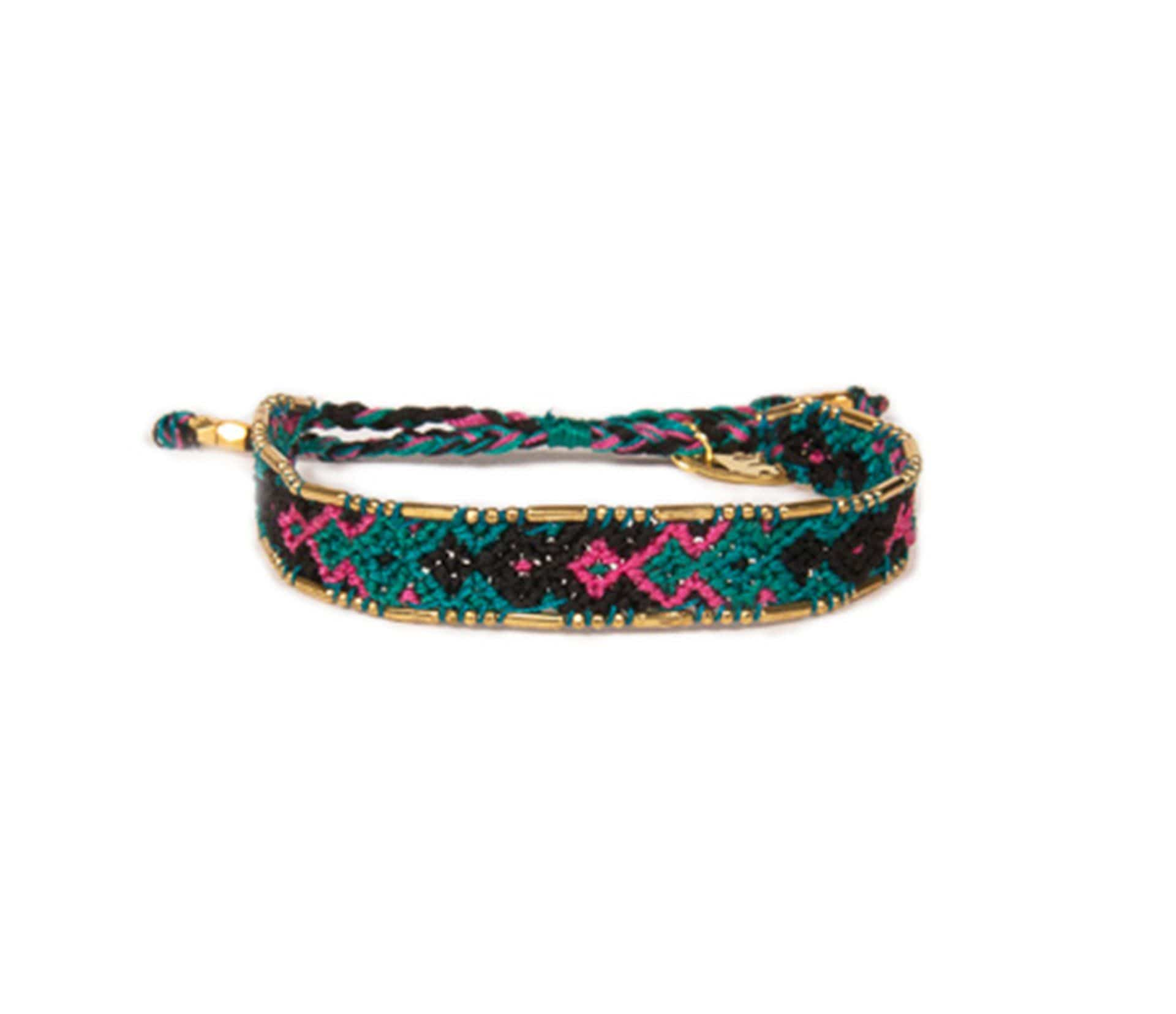 Love Is Project Bali Friendship Bracelet - Teal and Purple