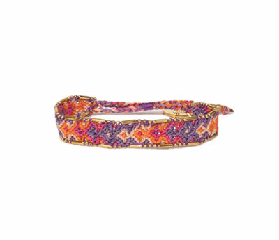 Love Is Project Bali Friendship Bracelet - Violet and Coral