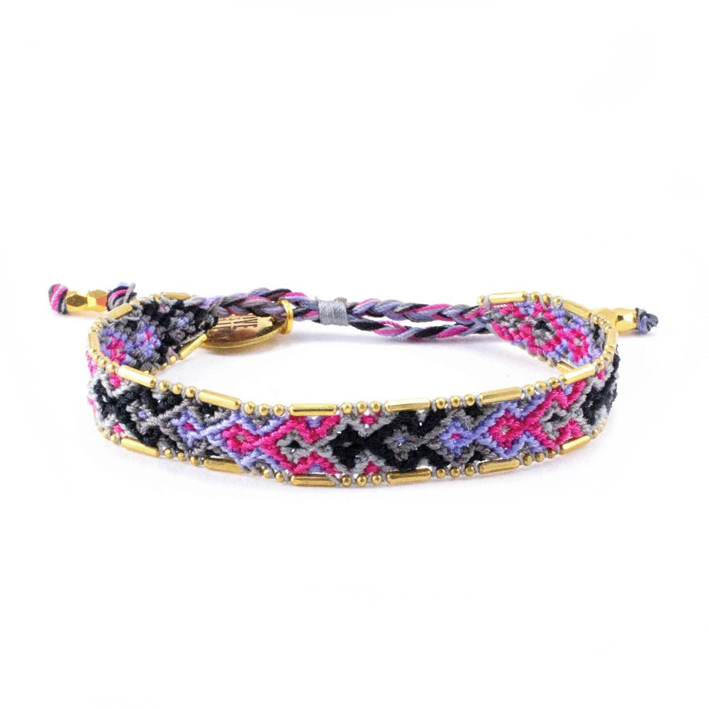 Bali Friendship Bracelet - Galaxy Jupiter Love Is Project woven bracelets by artisans in Indonesia. Beaded bracelets creates jobs.