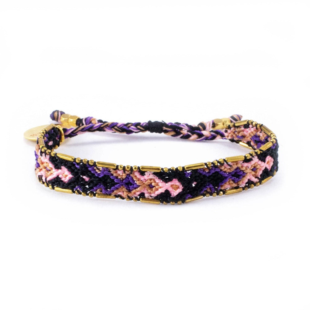 Bali Friendship Bracelet - Galaxy Venus Love Is Project woven bracelets by artisans in Indonesia. Beaded bracelets creates jobs.