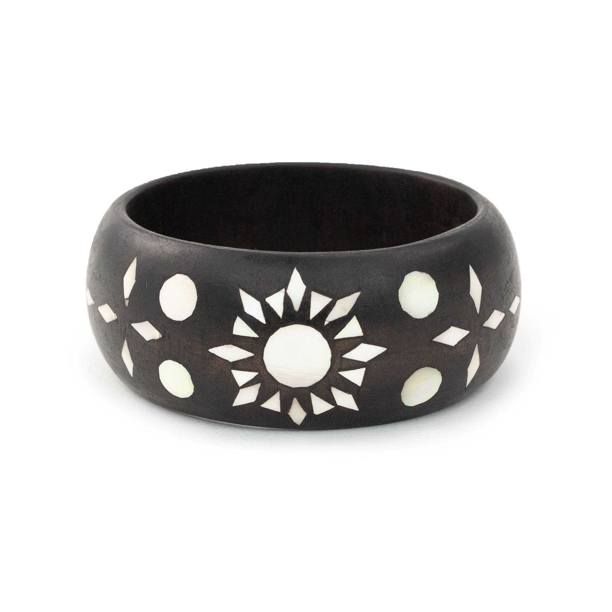 Mindanao Pearl & Wood Bangle - Sun
