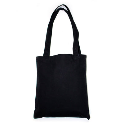 LOVE Languages Tote Black Gold foil made in Indonesia. Love Is Project creates jobs for artisans worldwide.