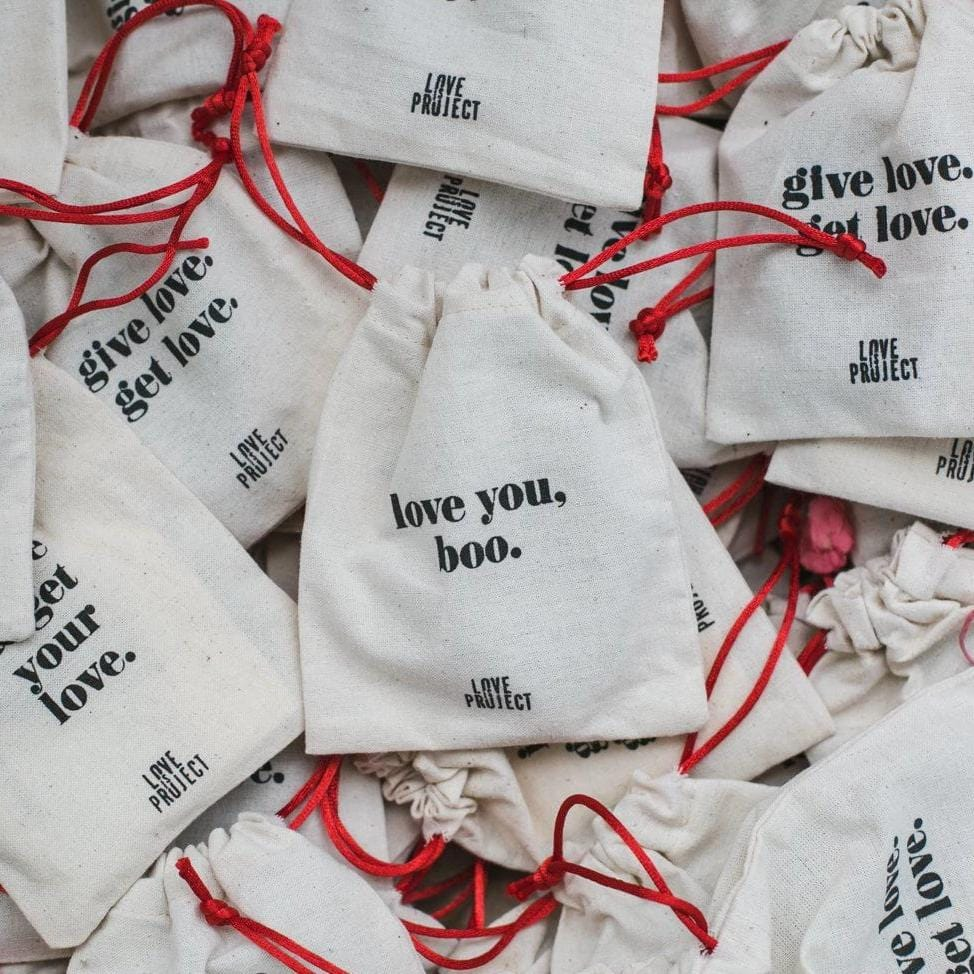 Love Is Project gift pouch packaging