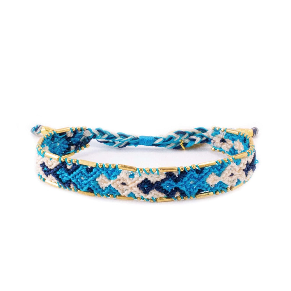 Bali Friendship Bracelet - Ocean Reef Love Is Project woven bracelets by artisans in Indonesia. Beaded bracelets creates jobs.