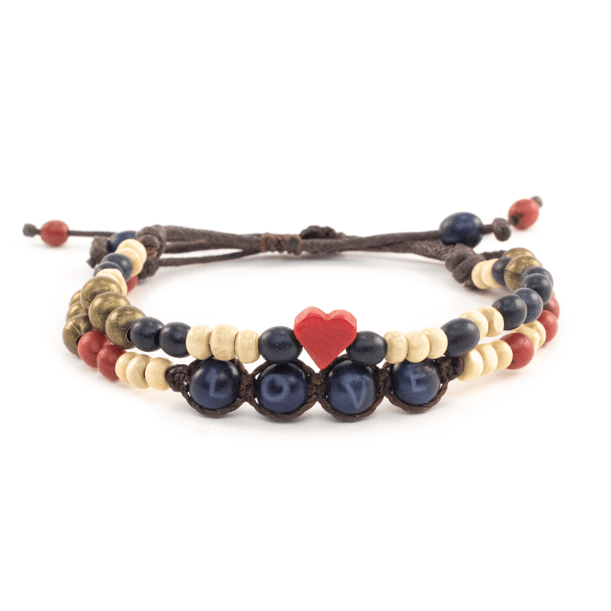 Bundle - Achira Harmony & Tagua Heart Bracelets - Love Is Project