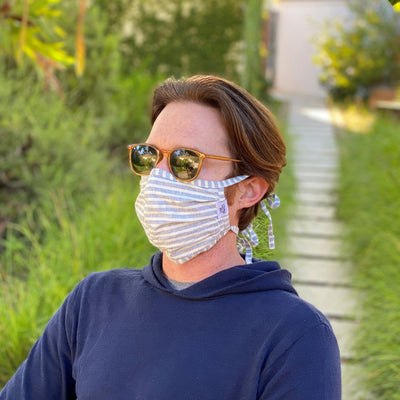 Stripes Tie Face Mask