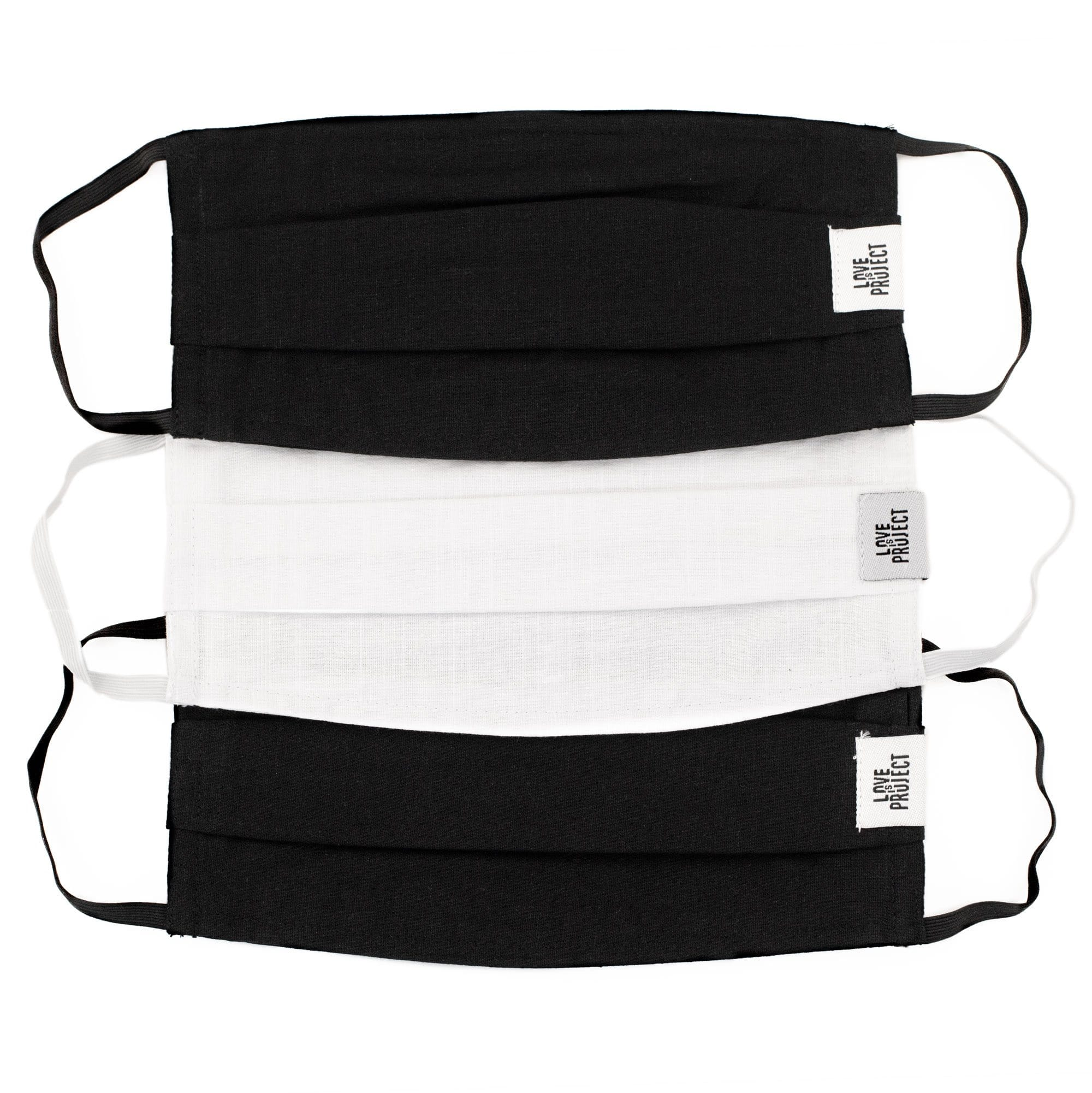 Bundle - Black and White Masks (Set of 3)