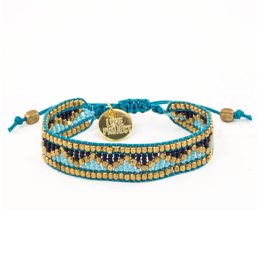 Taj Beaded Bracelet - Jodphur Blue