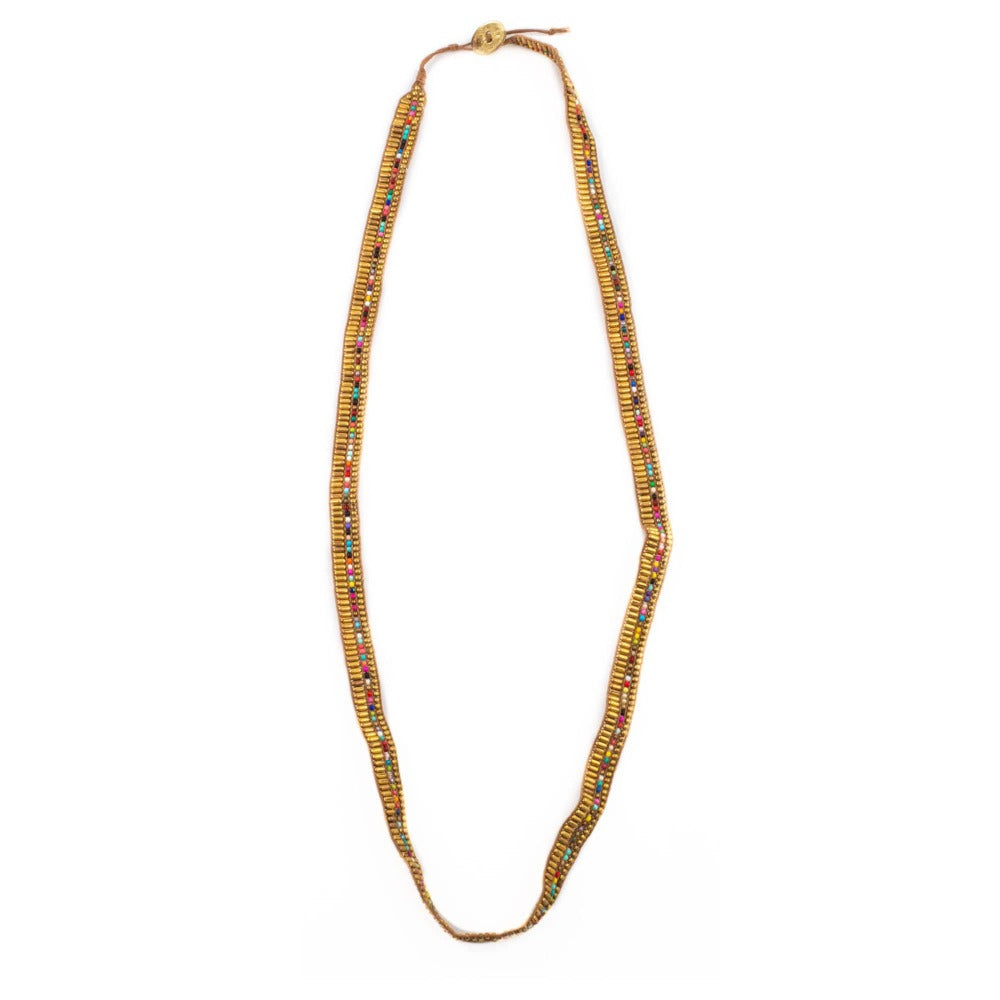 New Arrival - Versatile Darjeeling 3 in 1 Necklace, Wrap Wrist, Waist Chain Belt - Gold