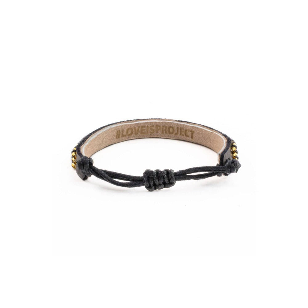 Skinny LOVE Bracelet - Black/Gold