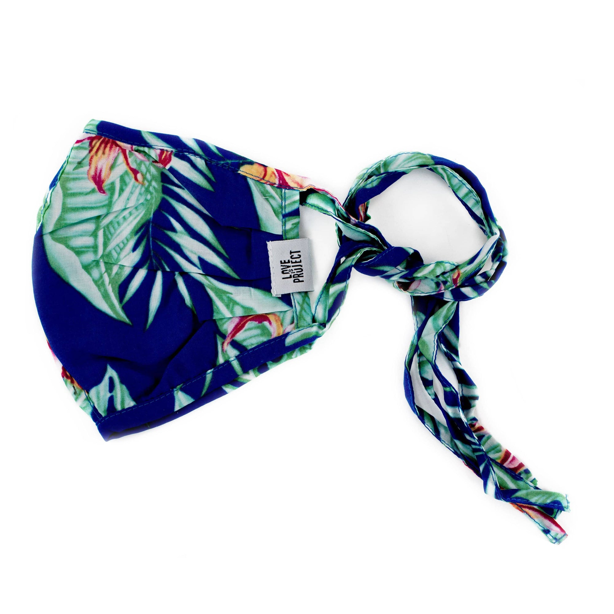 Aloha Tie Face Mask - Marine Blue