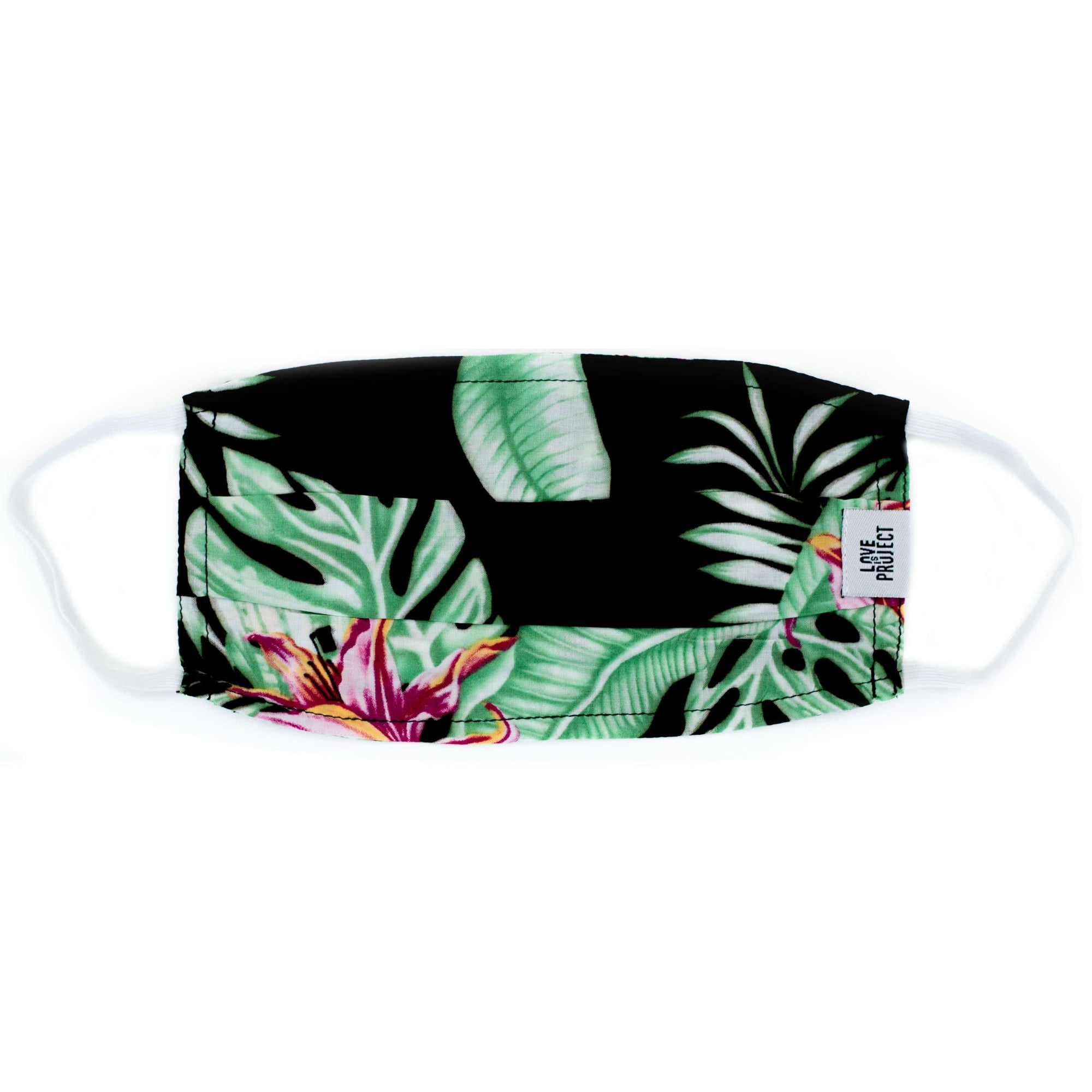 Aloha Elastic Face Mask - Midnight Black - Love Is Project