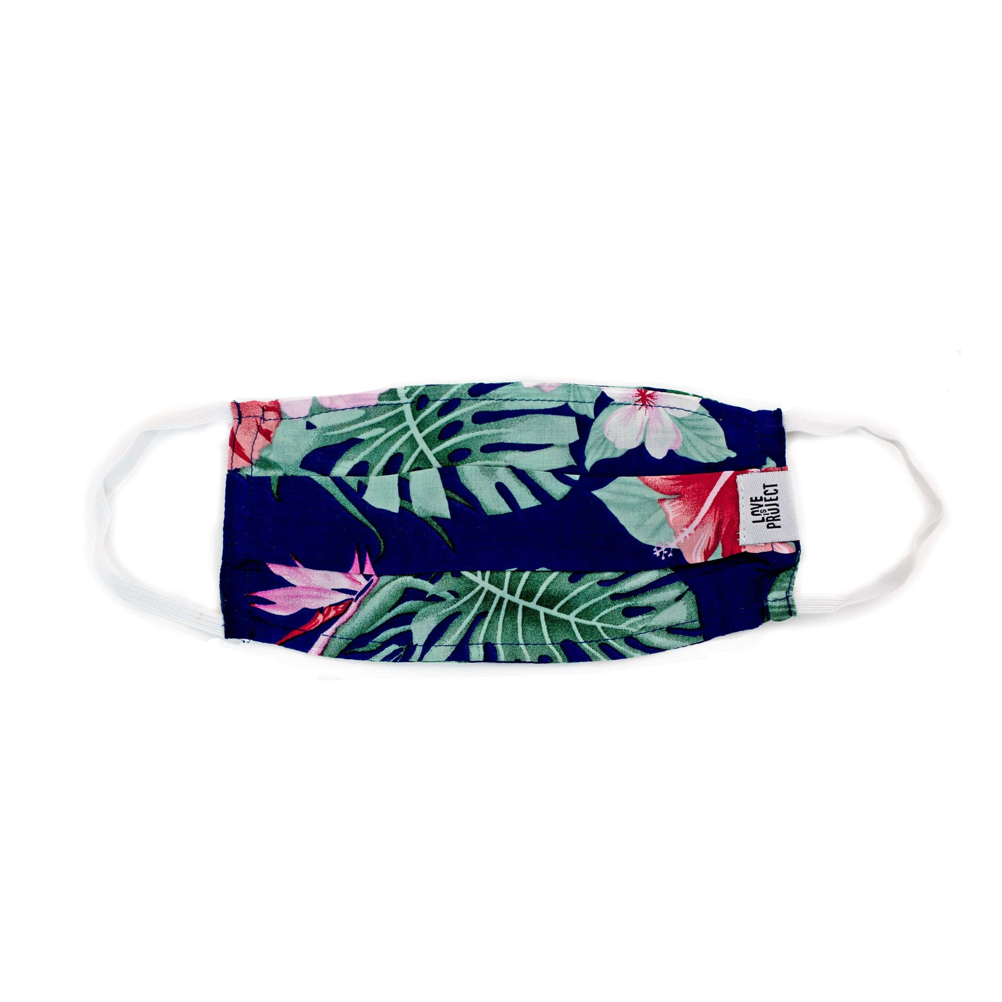 Kids' Aloha Elastic Face Mask - Ocean Blue