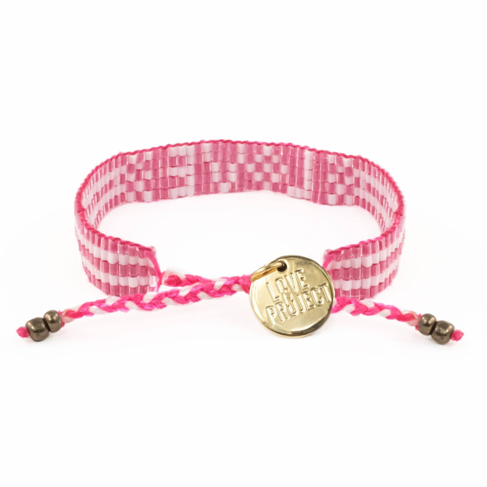 Pretty in Pink Bali Seed LOVE Bracelet