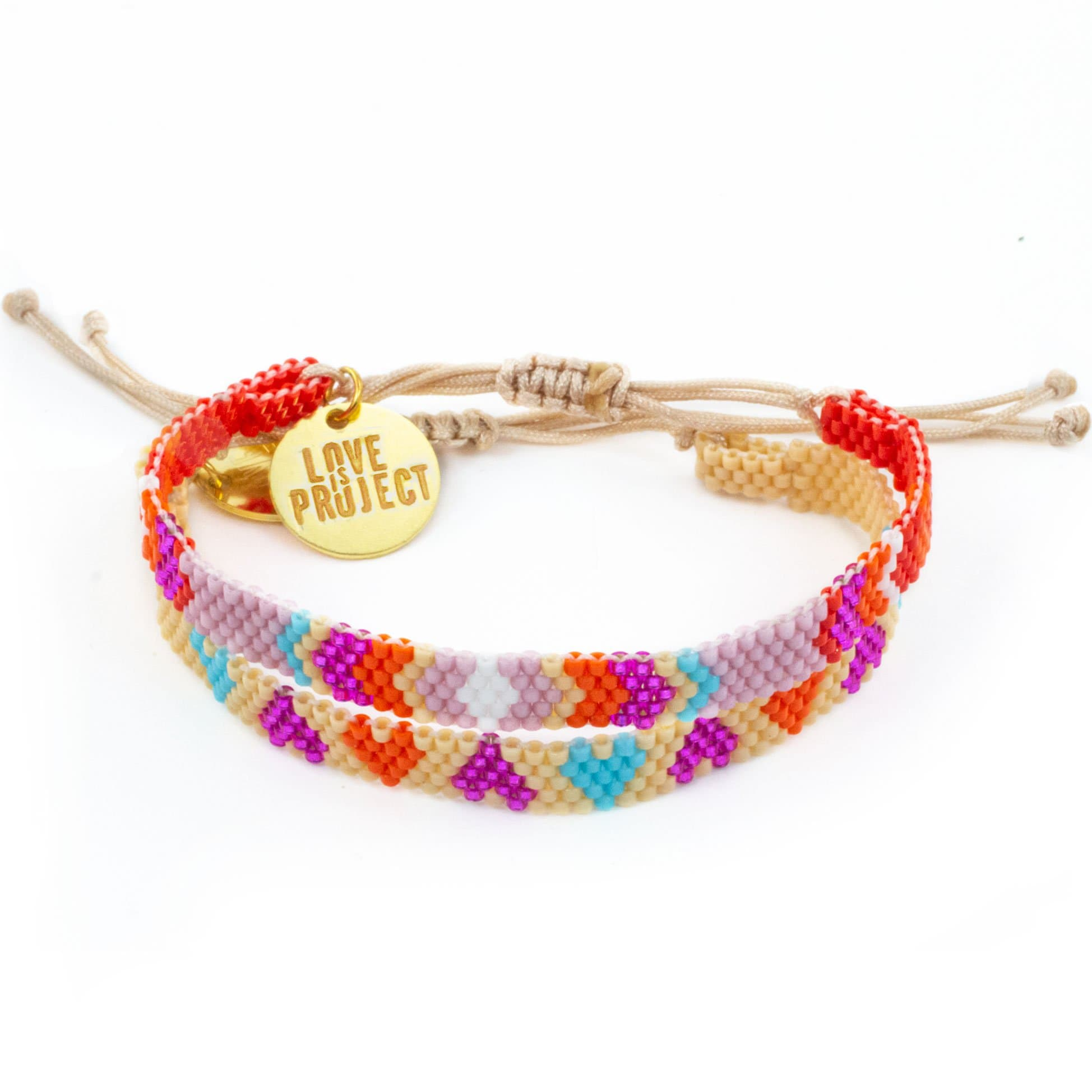 NEW ARRIVAL Chaquira Bracelet Set (of 2) - Red & Purple