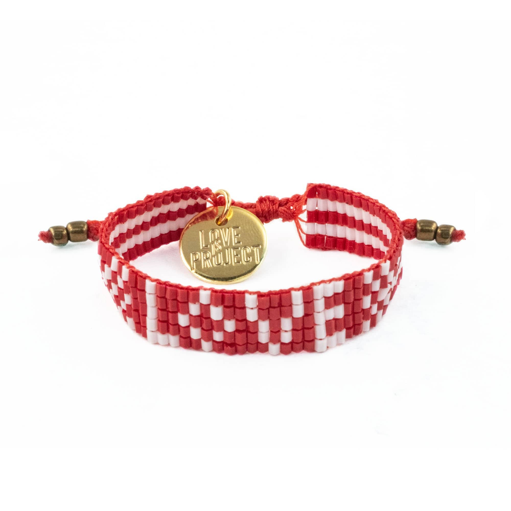 Kids' Seed Bead LOVE Bracelet - Red