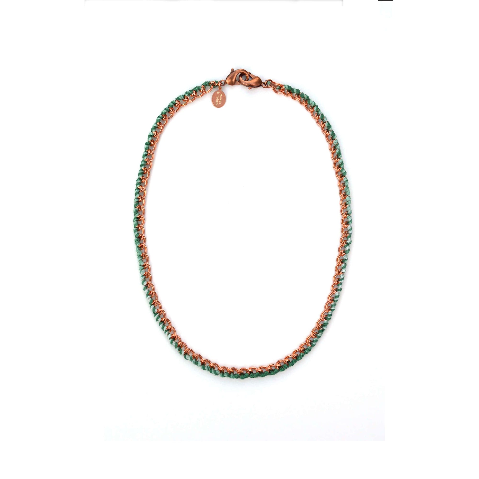 LOVE Links - mask chain - 3-in-1 Necklace + Bracelet + Mask Holder - Rose Gold Palm Ombré