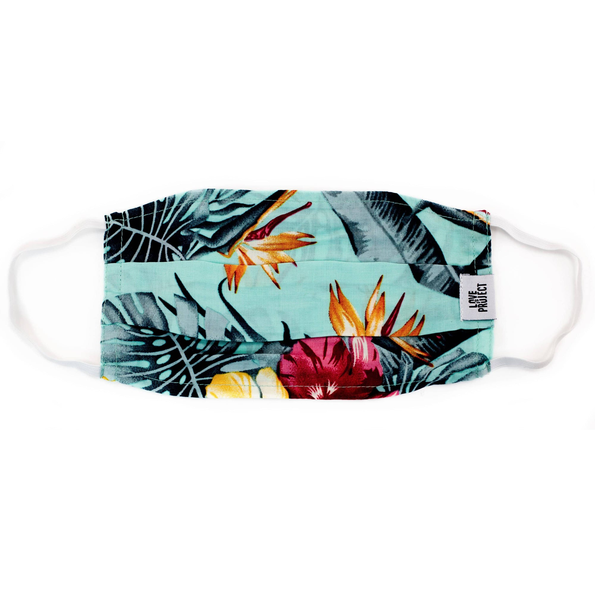 Aloha Elastic Face Mask - Sea Foam