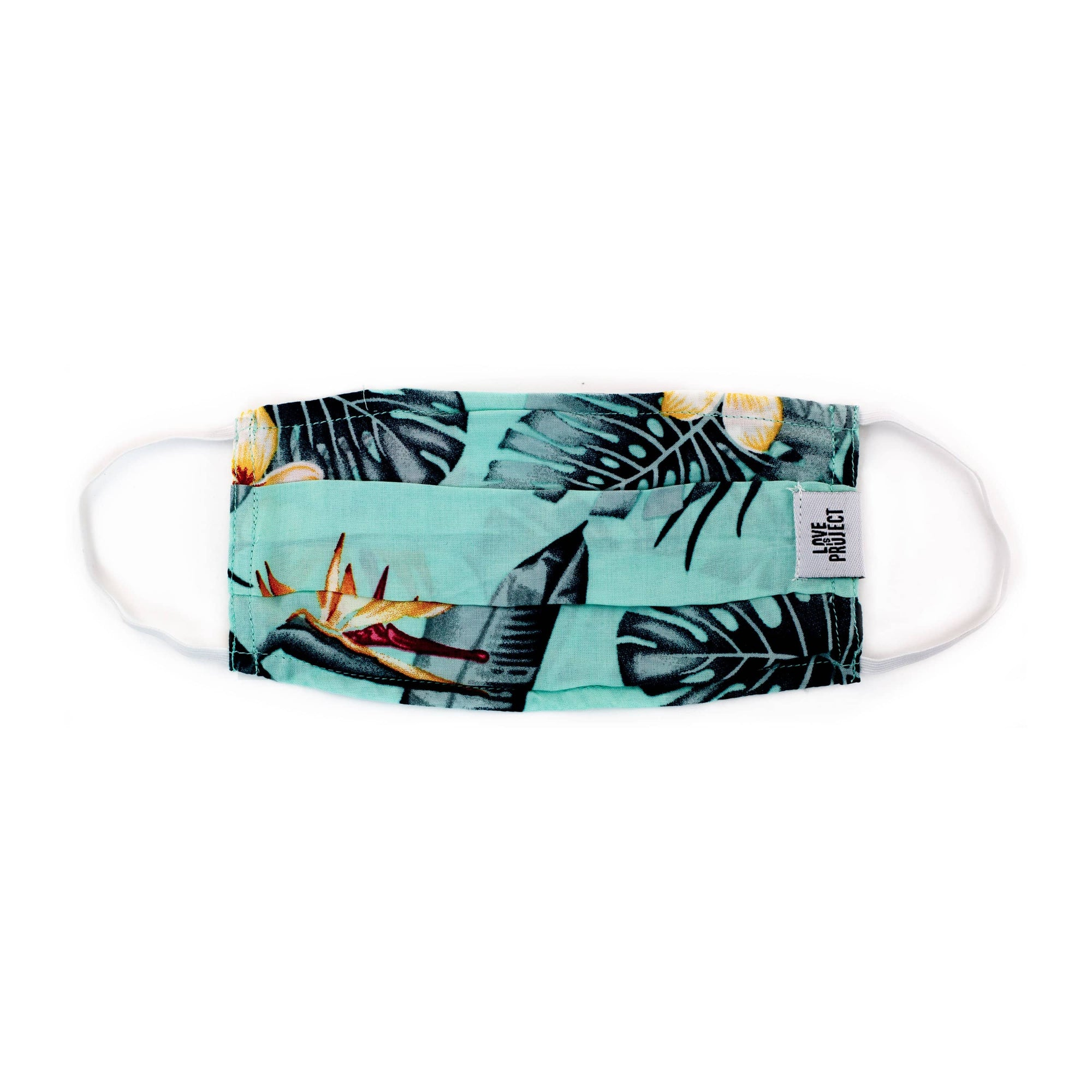 Kids' Aloha Elastic Face Mask - Sea Foam