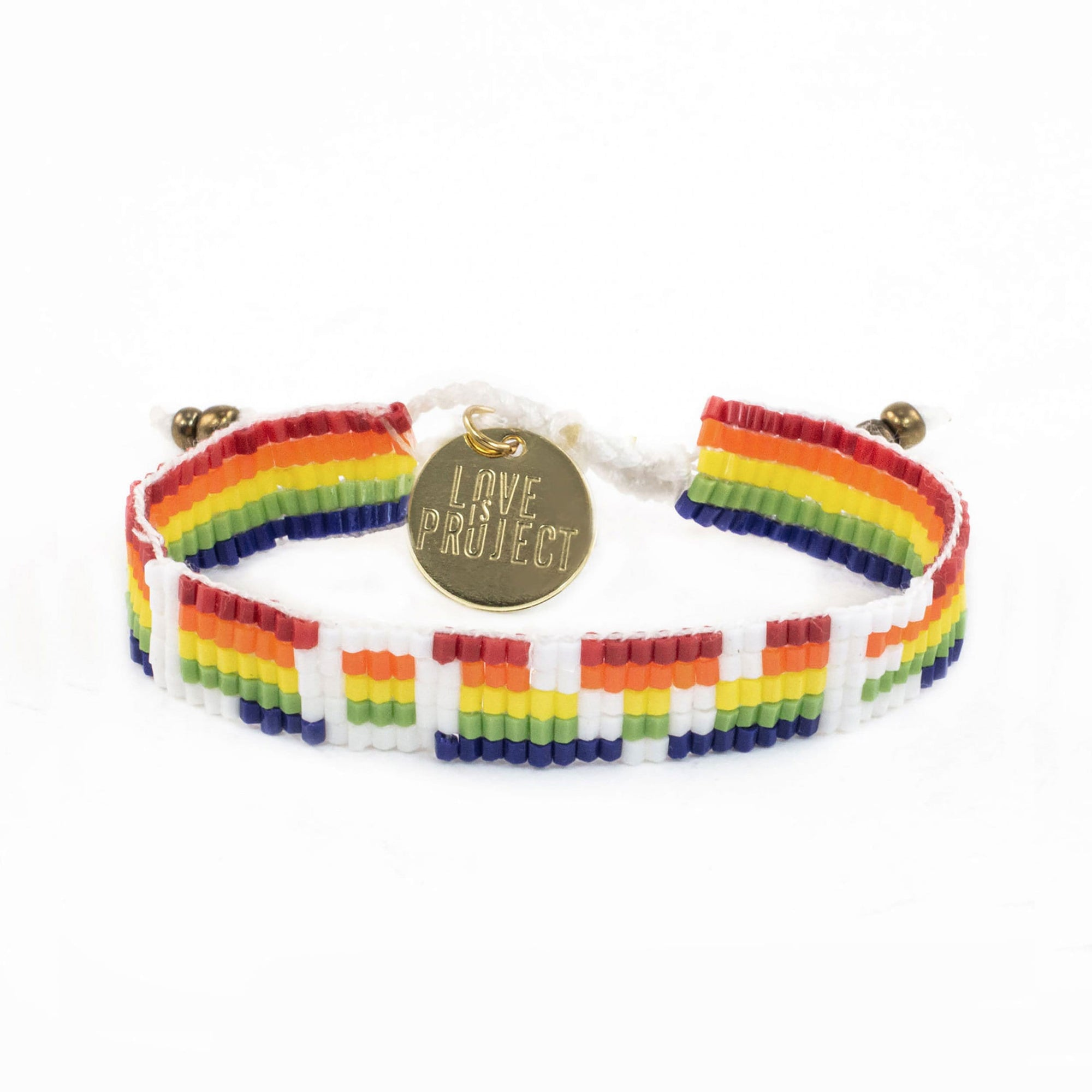 New Arrival -Seed Bead LOVE Bracelet - Rainbow