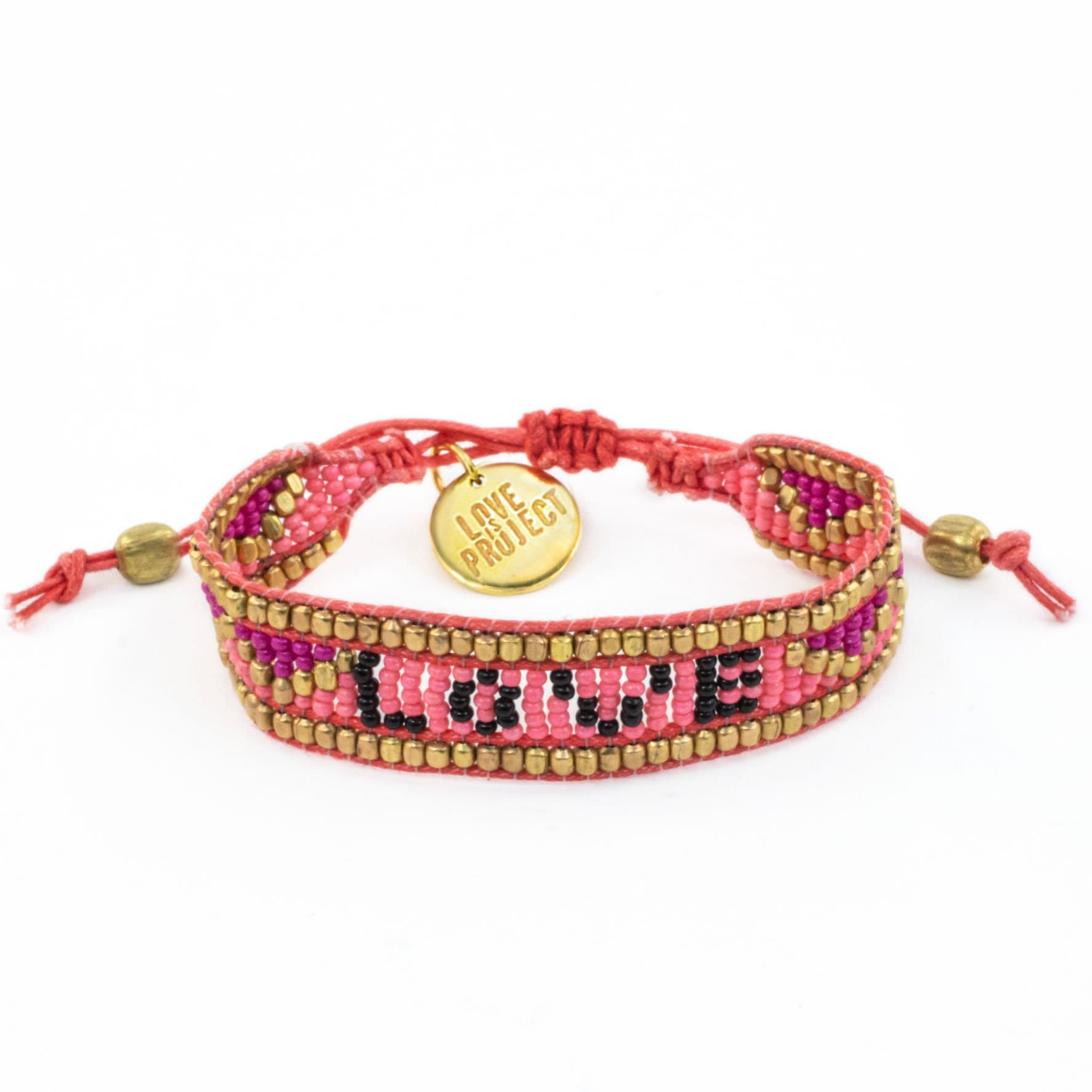 NEW ARRIVAL: Taj LOVE Bracelet - Pink & Black