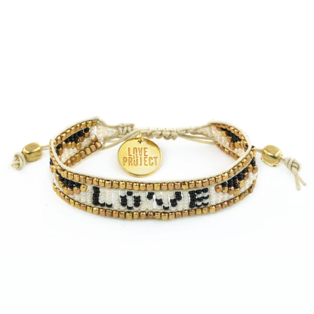NEW ARRIVAL: Taj LOVE Bracelet - White & Black