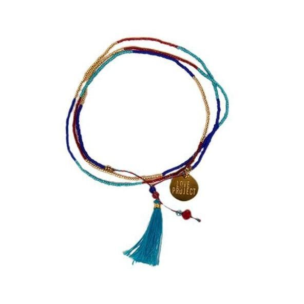 Bali UNITY Beaded Wrap/Necklace - Royal Blue