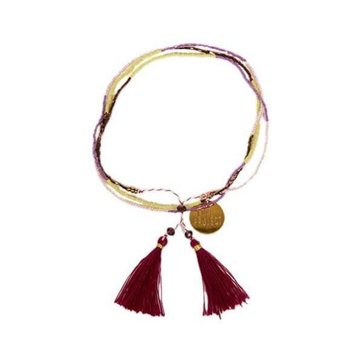 Bali UNITY Beaded Wrap / Necklace - Purple