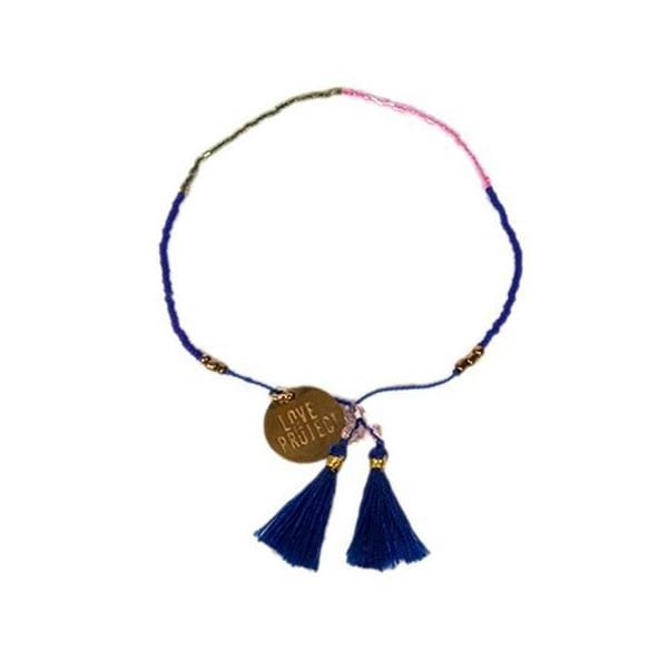 Love Is Project Bali UNITY Beaded Bracelet - Royal Blue glass beaded bracelet creates jobs for artisans in Indonesia.