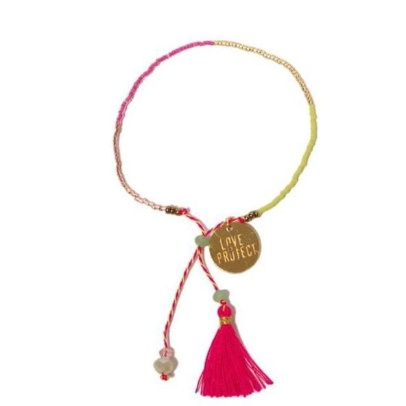 Love Is Project Bali UNITY Beaded Bracelet - Pink glass beaded bracelet creates jobs for artisans in Indonesia.
