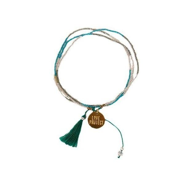 Bali UNITY Beaded Wrap/Necklace - Green - Love Is Project
