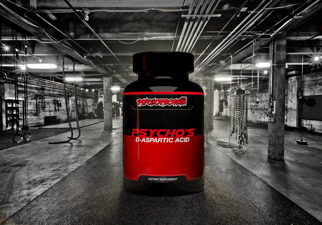 Psycho's 100% Pure D-Aspartic Acid - Mass Gainer and 'Test' Booster