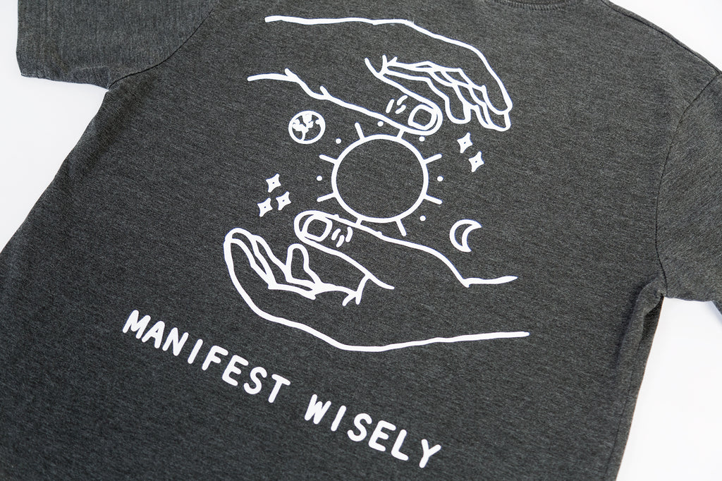 Manifest Wisely T-Shirt (Grey)